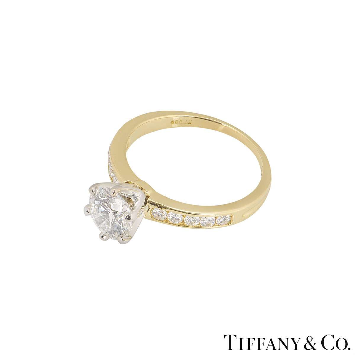 Tiffany & Co. Yellow Gold Diamond Ring 1.08ct H/VS1